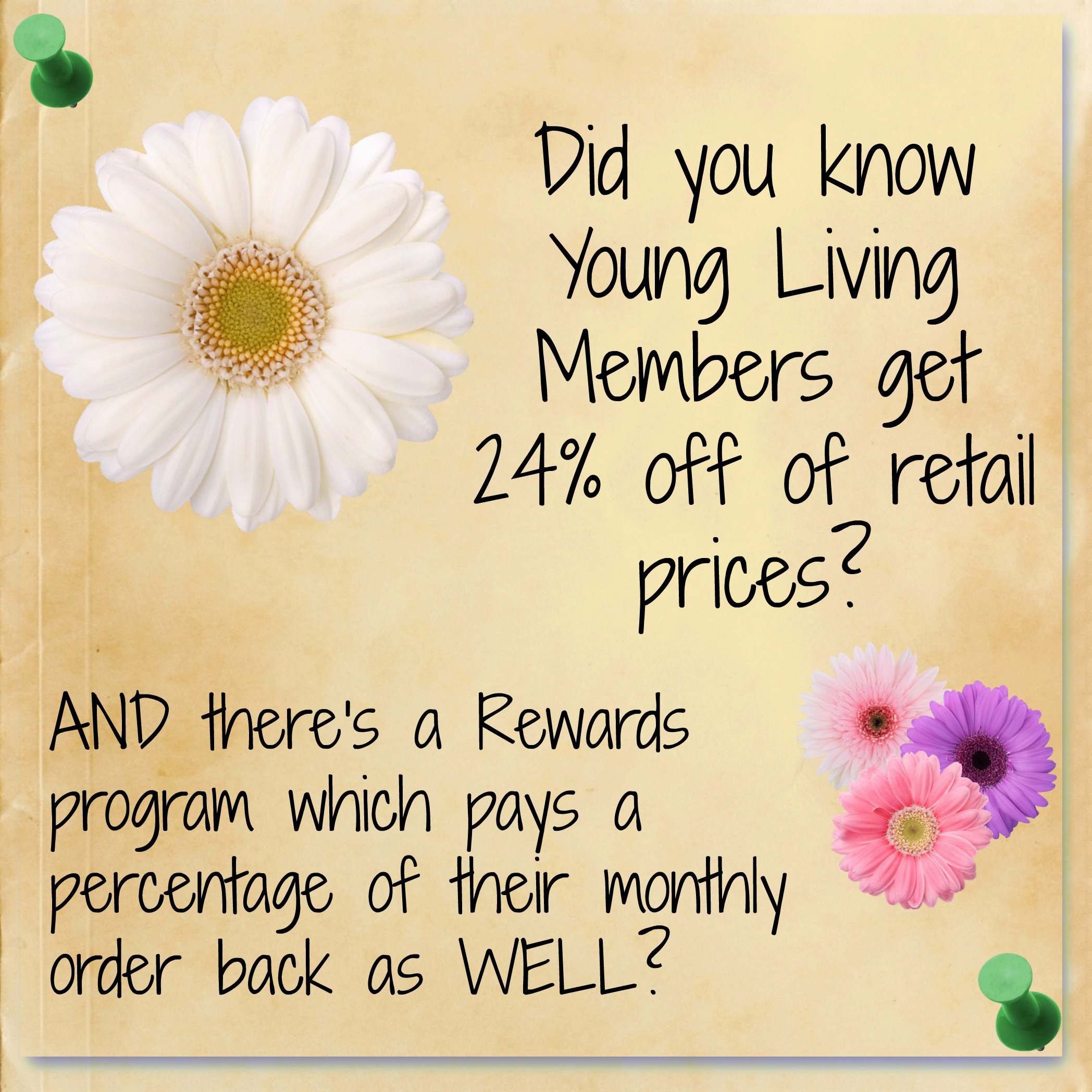 Members discounts are available. Click the 'About Young Living' tab to find out more.